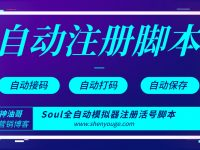 新版soul全自动模拟器注册活号技术加脚本